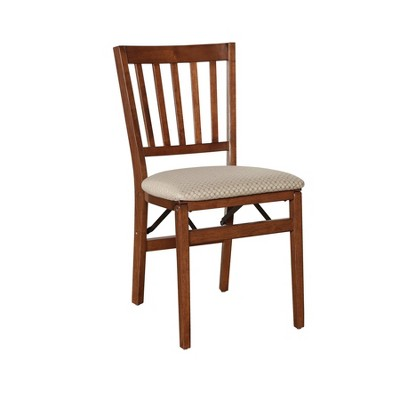 Set of 2 School House Folding Chair Cherry - Stakmore