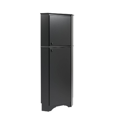 Elite Tall 2 Door Corner Storage Cabinet - Prepac