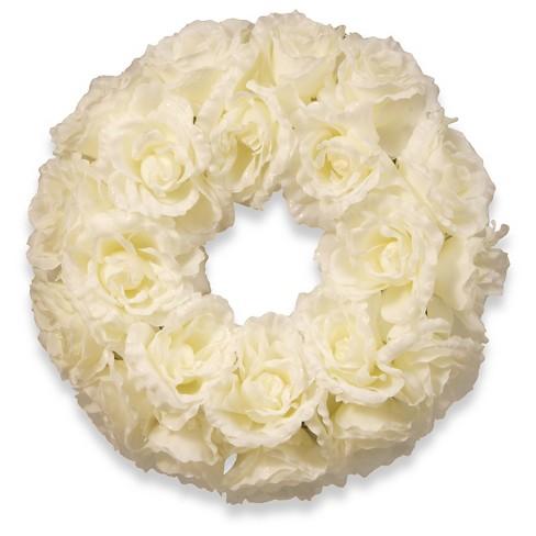 "Glittered Rose Wreath (16.5"") - image 1 of 1"