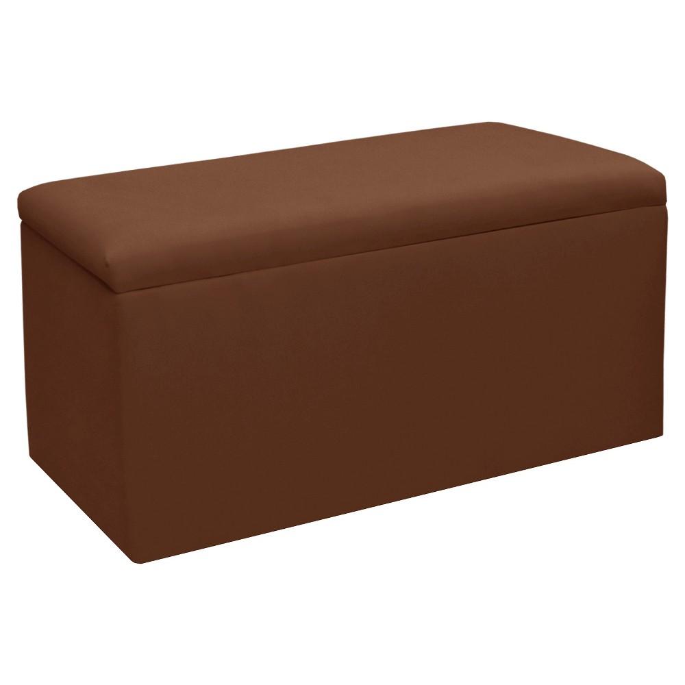 Image of Skyline Furniture Storage Bench - Duck Chocolate - Skyline Furniture