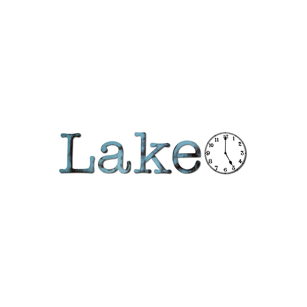 Image of Lake Time Blue Radiance 40 x 8.6 x .25 - Letter2Word, Turquoise And Aqua