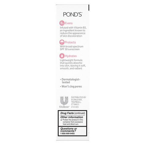 Pond's Clarant B3 Even Skin Tone Daily Facial... : Target