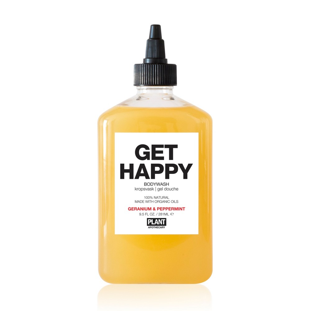 Plant Apothecary Get Happy Body Wash - Geranium & Peppermint - 9.5oz