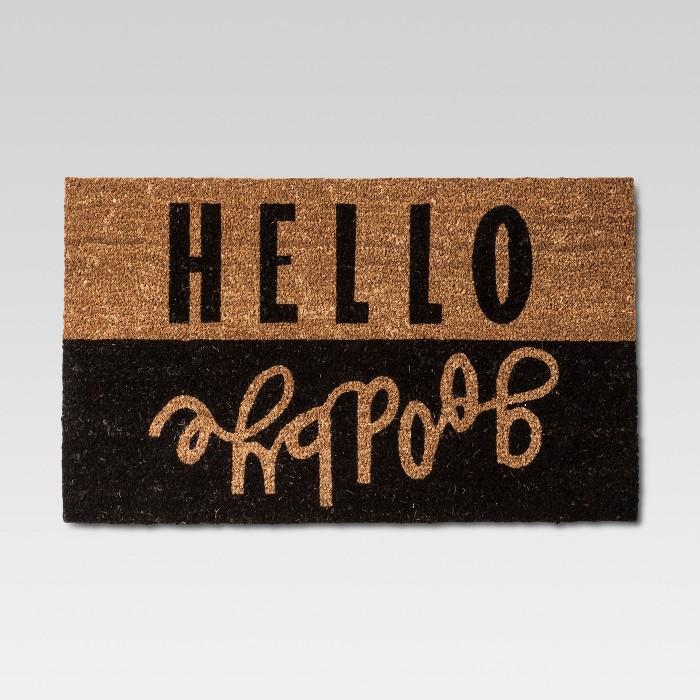 Hello Goodbye Doormat 2'x3' - Room Essentials™ - image 1 of 3