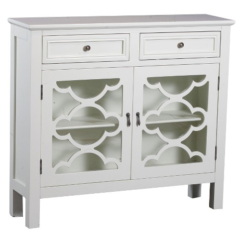 Kaitlyn Slimline Console Cabinet Offwhite Powell Company