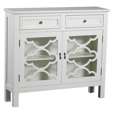 Charmant Kaitlyn Slimline Console Cabinet OffWhite   Powell Company