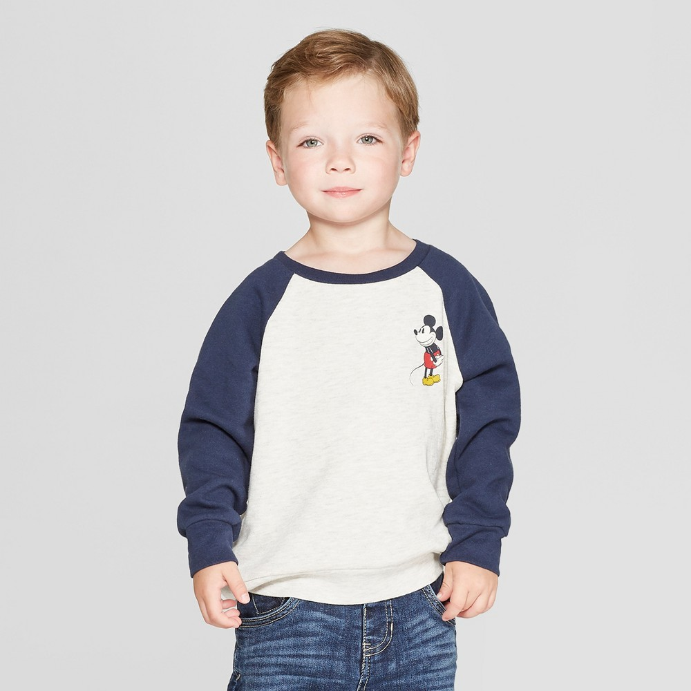 Toddler Boys' Disney Sweatshirt - White/Blue 18M, Brown