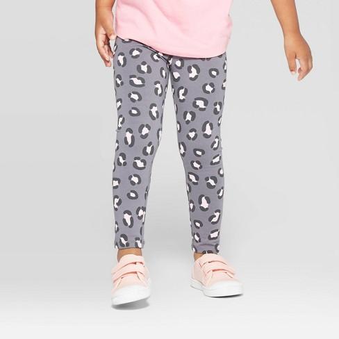 Toddler Girls' Animal Print Leggings - Cat & Jack™ Dark Gray - image 1 of 3