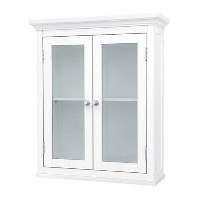 Madison Avenue Wall Cabinet 2 Doors White - Elegant Home Fashions