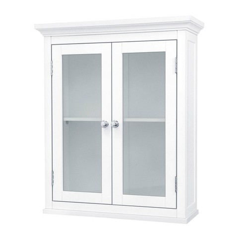 Madison Avenue Wall Cabinet 2 Doors White - Elegant Home Fashions - image 1 of 4