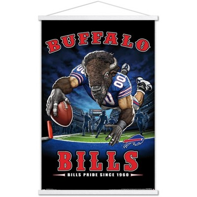 Trends International NFL Buffalo Bills - End Zone 17 Framed Wall Poster Prints