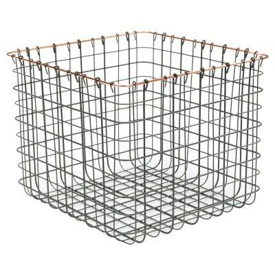Cube Storage Box Pewter - Threshold™