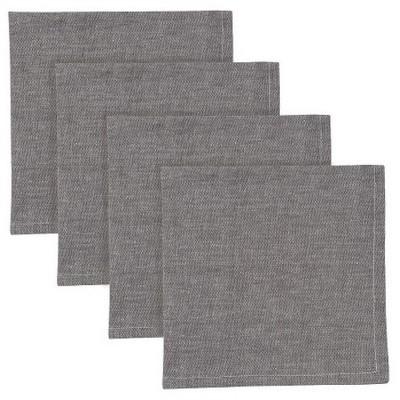 4pk Gray Napkin 18 x18  - Now Designs