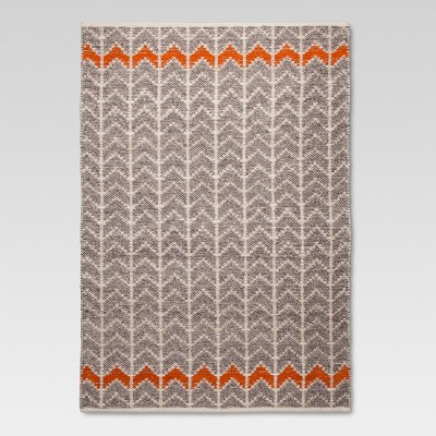 7'x10' Flatweave Chevron Rug Gray/Orange - Threshold™