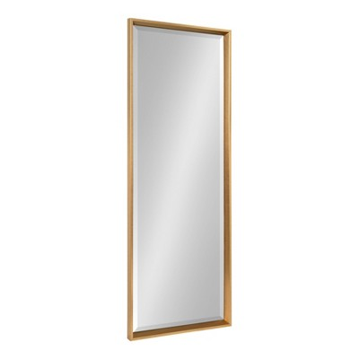 "17.5"" x 49.5"" Calter Full Length Wall Mirror Gold - Kate and Laurel"