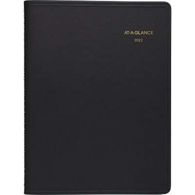 """2022 Planner 9""""x11"""" Monthly Large Black - At-A-Glance"""