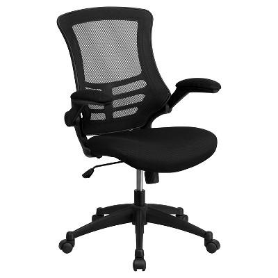 Beau Swivel Task Chair With Mesh Padded Seat Black   Flash Furniture