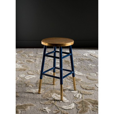 """24"""" Emery Dipped Gold Leaf Counter Height Barstool - Safavieh : Target"""