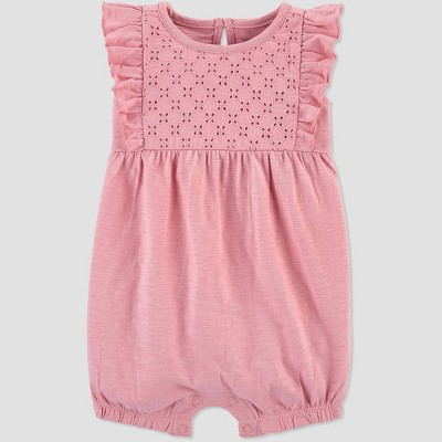 Baby Girls' One Piece Dusty Romper - Just One You® made by carter's Pink 12M