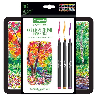Crayola 50ct Signature Color & Detail Markers Set