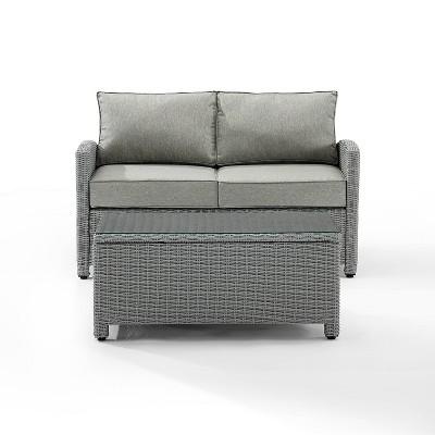 Bradenton 2pc Outdoor Seating Set - Gray - Crosley