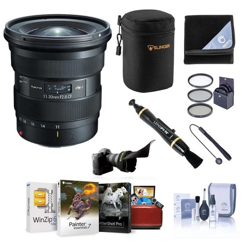 Tokina ATX-i 11-20mm CF f/2.8 Lens for Nikon F - Bundle with Filter Kit, Lens Shade, Wrap,  Cleaner, Corel Mac Software Suite and Accessories - image 1 of 1