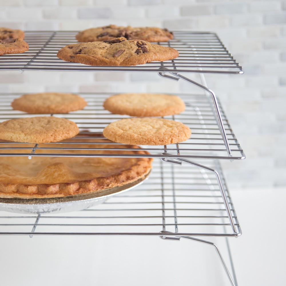 Image of Fox Run Triple-Tier Cooling Rack, Silver
