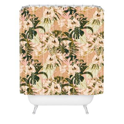 Marta Barragan Camarasa Flowering Tropical bloom Shower Curtain Pink - Deny Designs