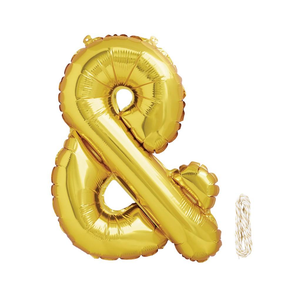 "Image of ""16"""" Ampersand Foil Balloon Gold - Spritz , Kids Unisex"""