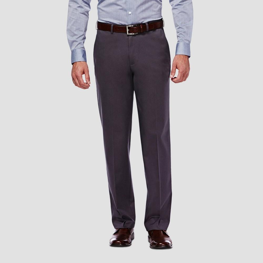 Compare Haggar Men's Premium No Iron Classic Fit Flat Front Casual Pants -