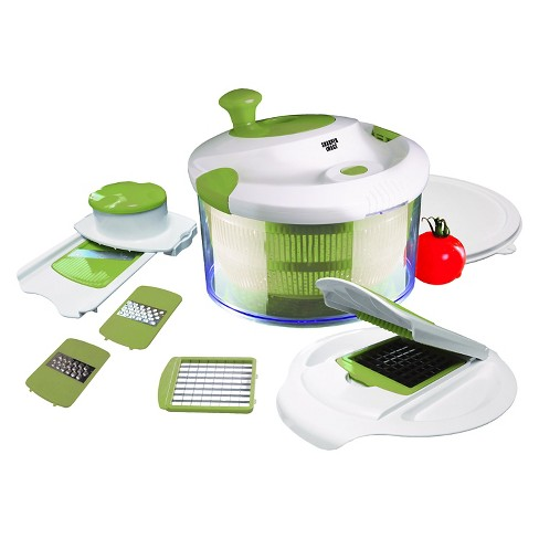 All In 1 Salad Spinner With Chopper And Mandoline Lids Target