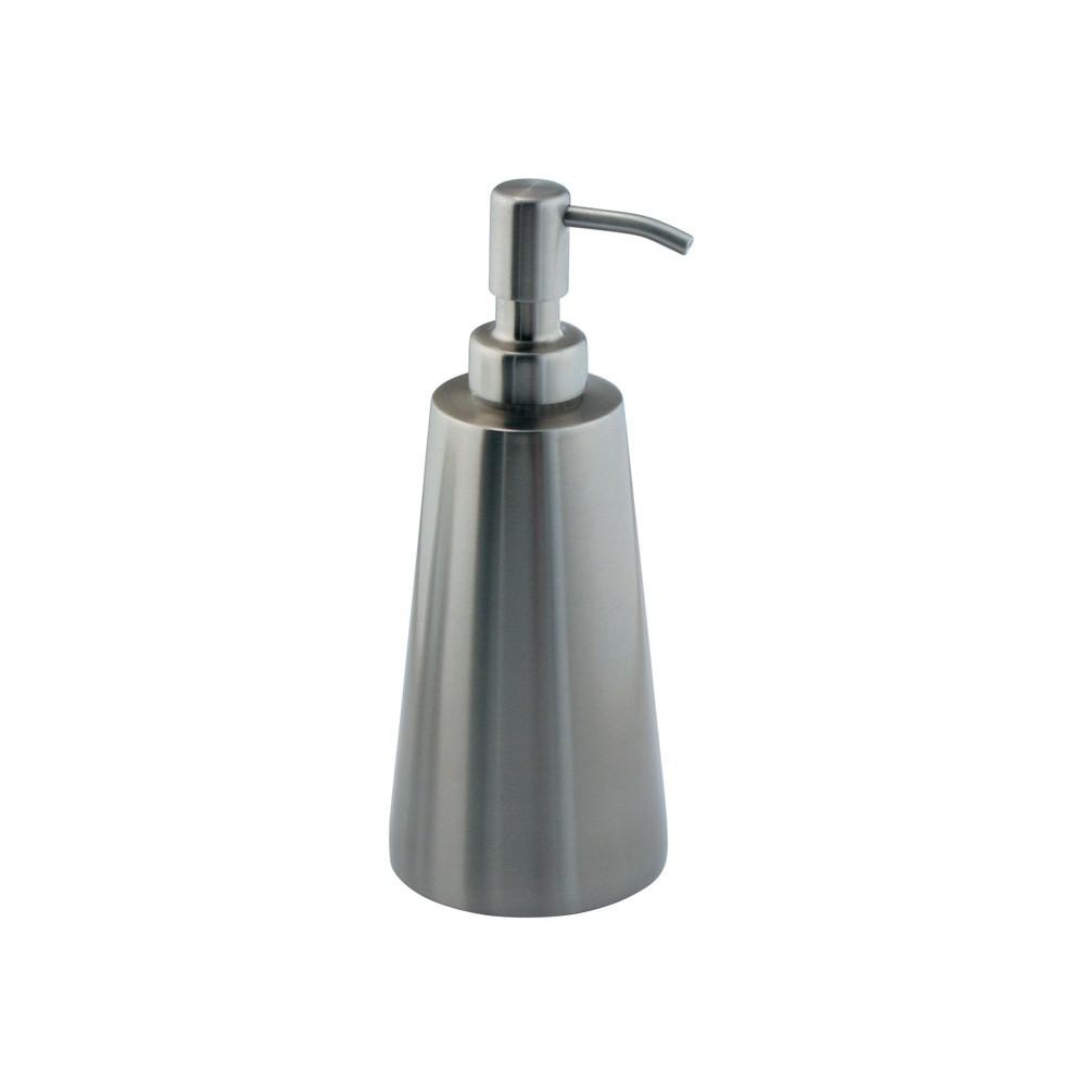 Image of InterDesign Forma Koni Stainless Steel Soap Pump 16oz Brushed