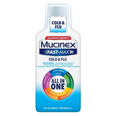 Cold & Flu: Mucinex Fast-Max Cold & Flu Liquid