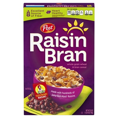 Breakfast Cereal: Post Raisin Bran