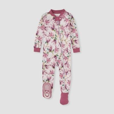 Burt's Bees Baby® Baby Girls' Magnolia Footed Pajama - Purple
