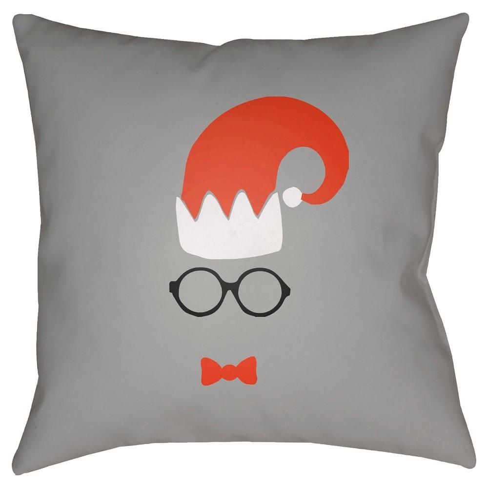 Light Gray Elf Throw Pillow 18