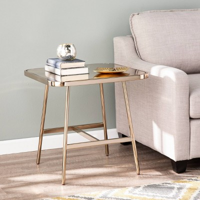Tishton Mirrored End Table Champagne - Aiden Lane