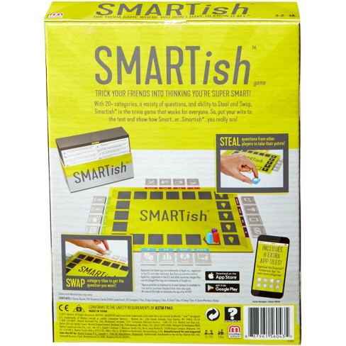 Smartish Trivia Strategy Board Game for 2-12 Players Ages 14Y+
