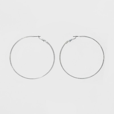 Textured Hoop Earrings - A New Day™