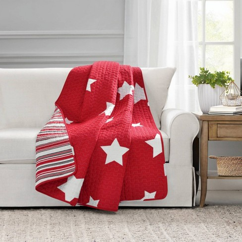 """50""""x60"""" Star Throw Blanket Red - Lush Decor - image 1 of 4"""