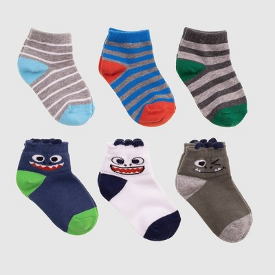 Baby Boys' 6pk Monster Ankle Socks - Cat & Jack™