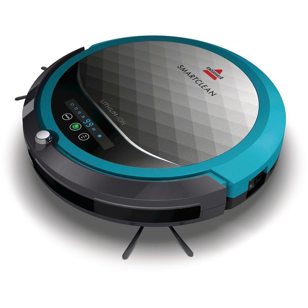 Bissell SmartClean Robot Vacuum- Disco Teal 1974, Soft Steel