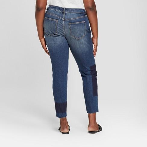 0d7a320ba06 Women s Plus Size Patchwork Skinny Jeans - Universal Thread™ Dark Wash