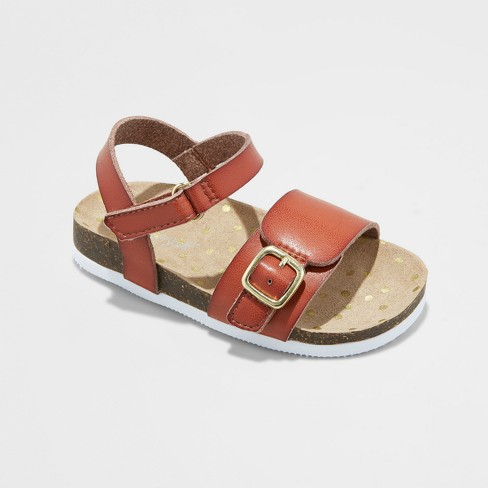 5248ab8ed5bc Toddler Girls  Berdie Footbed Sandals - Cat   Jack™ Cognac 7   Target