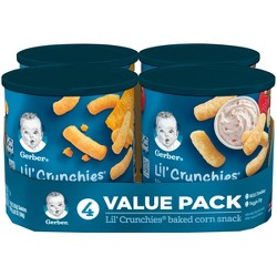 Gerber Lil' Crunchies, Variety Pack - 1.48oz (4ct)