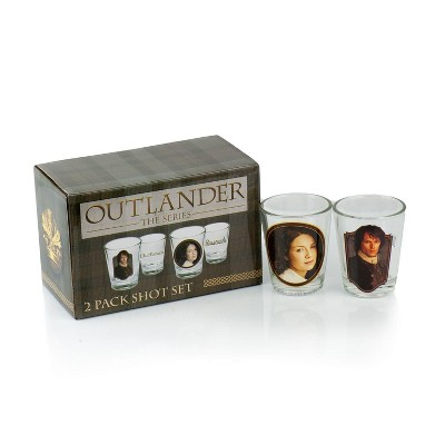Surreal Entertainment Outlander Collectibles Jamie and Claire Fraser Shot Glasses | Collectors Edition