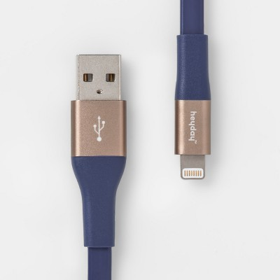 heyday™ Lightning to USB-A Flat TPU Cable 6ft - Purple/Gold