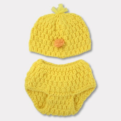 Baby Beanie & Diaper Set - Cloud Island™ Yellow