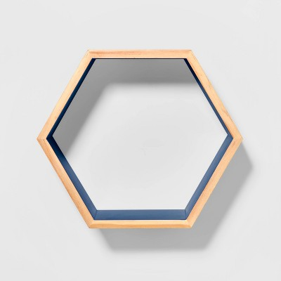 Natural Wood Hexagon Shelf - Pillowfort™