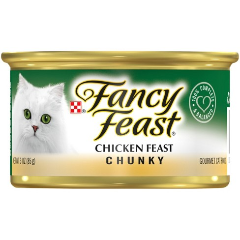 Purina® Fancy Feast Chunky Chicken Feast Wet Cat Food - 3oz can - image 1 of 4